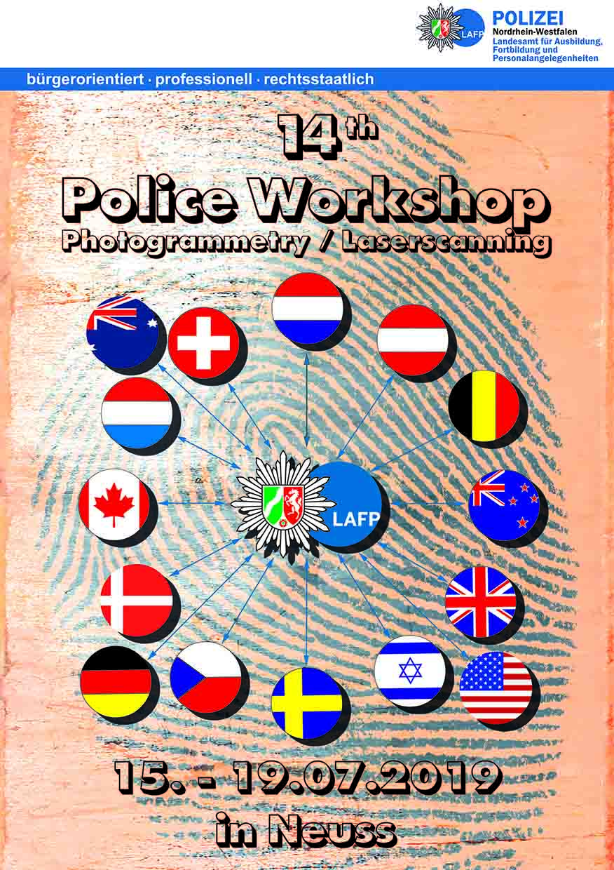Plakat 14. Internationales Polizeiseminar Photogrammetrie / Laserscanning
